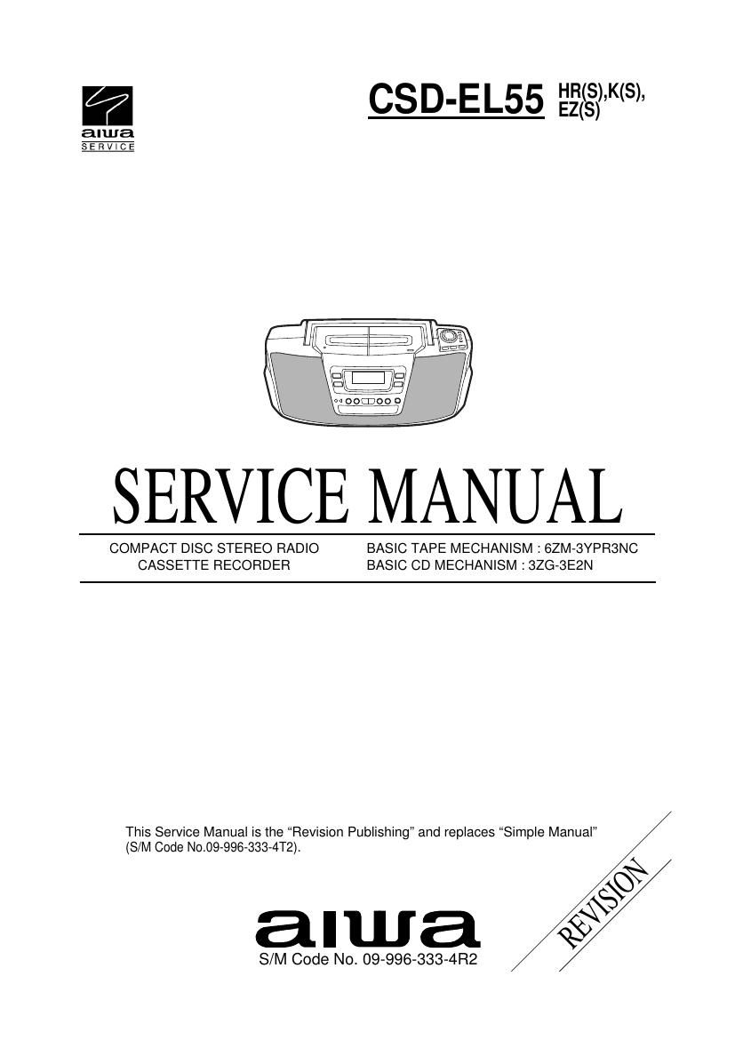 Aiwa CS DEL55 Service Manual