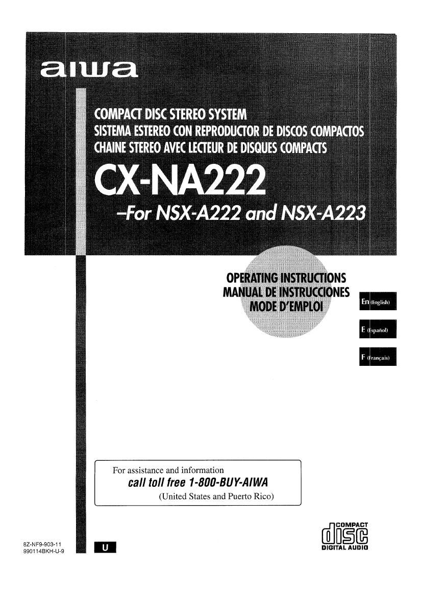 Aiwa CX NA222 Owners Manual