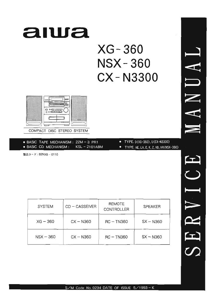 Aiwa CXN 3300 Service Manual