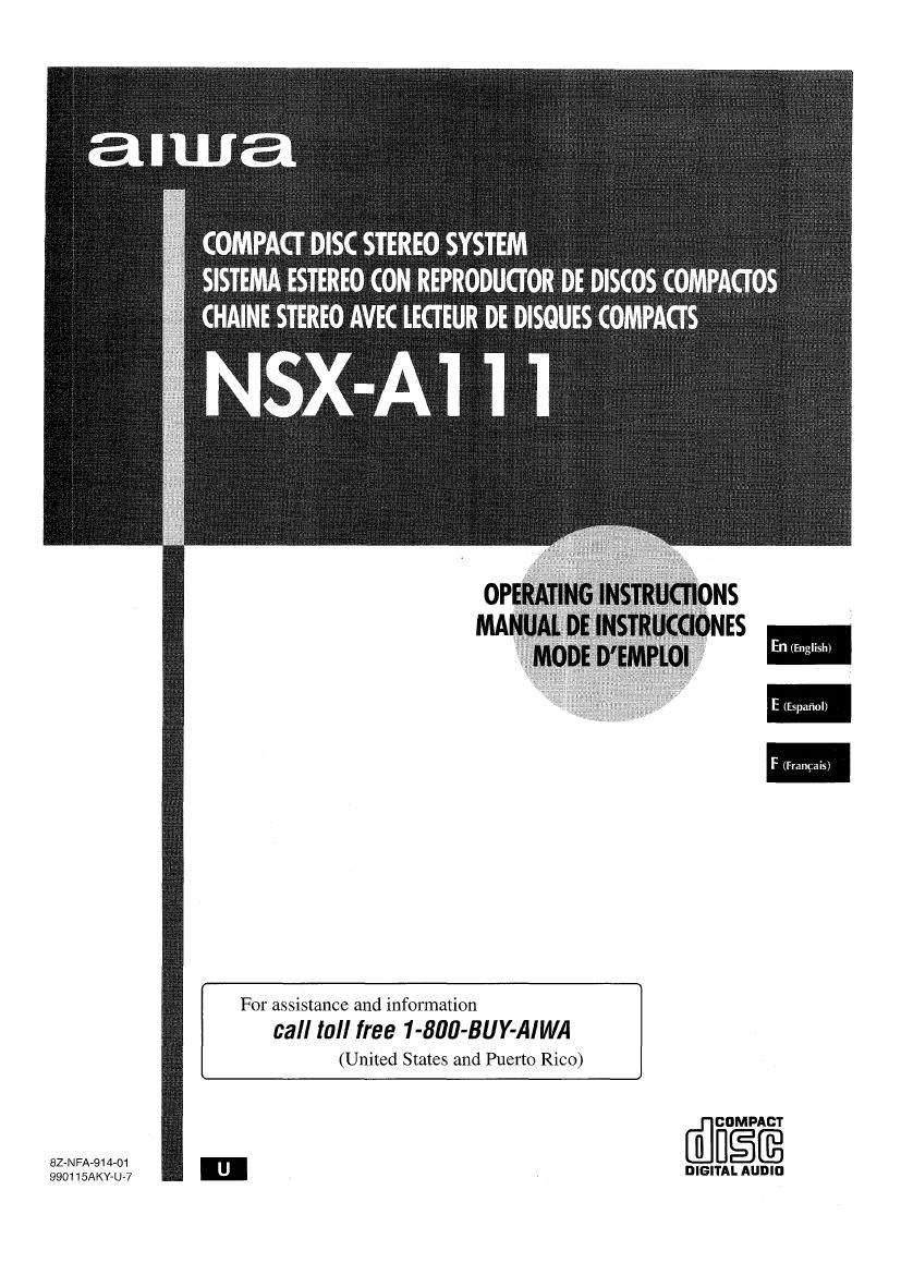 Aiwa NS XA111 Owners Manual