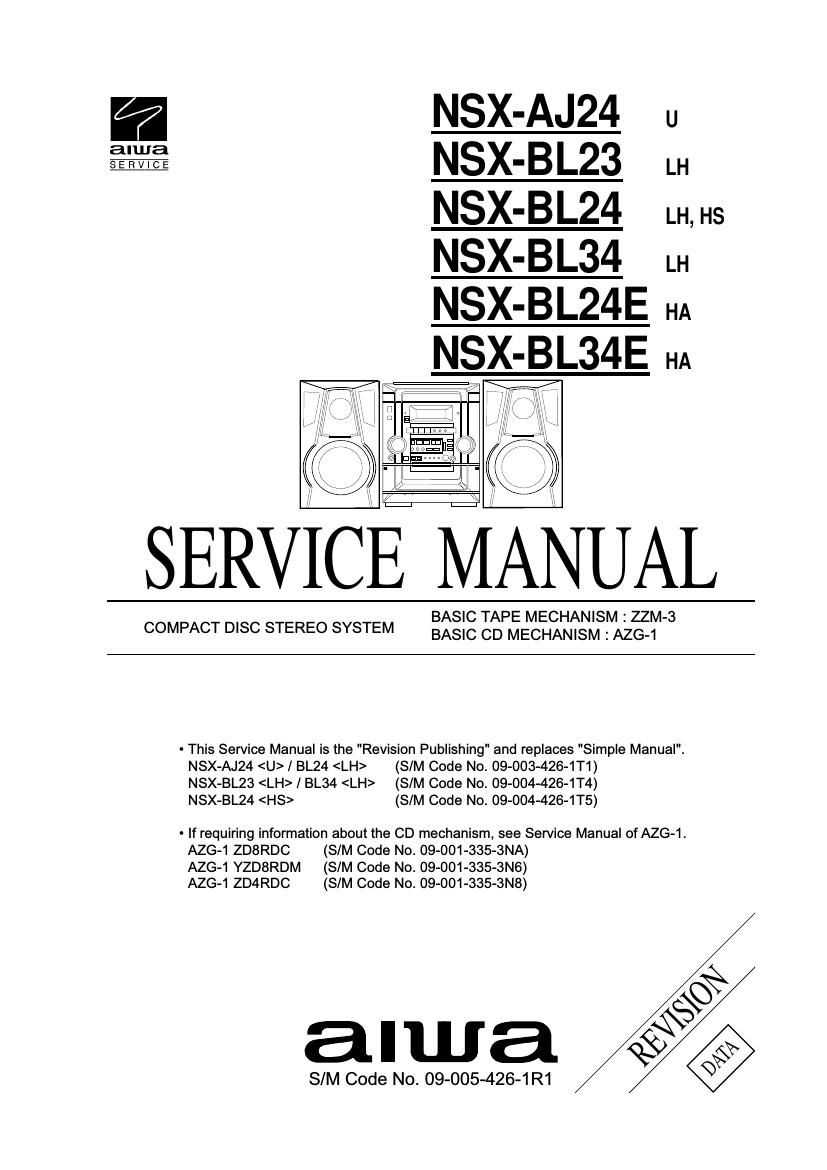 Aiwa NS XBL24 Service Manual
