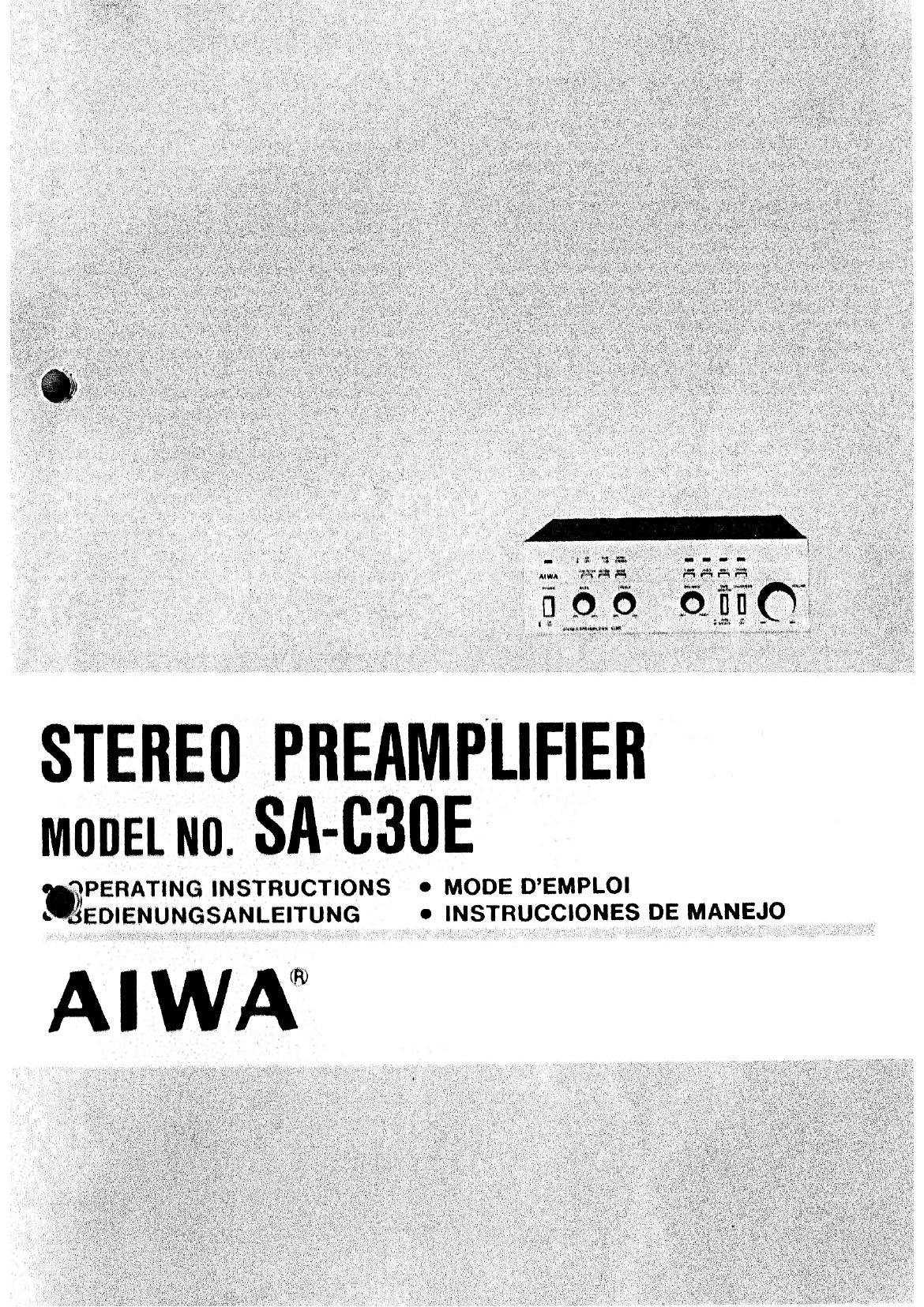 Aiwa SA C30E Owners Manual