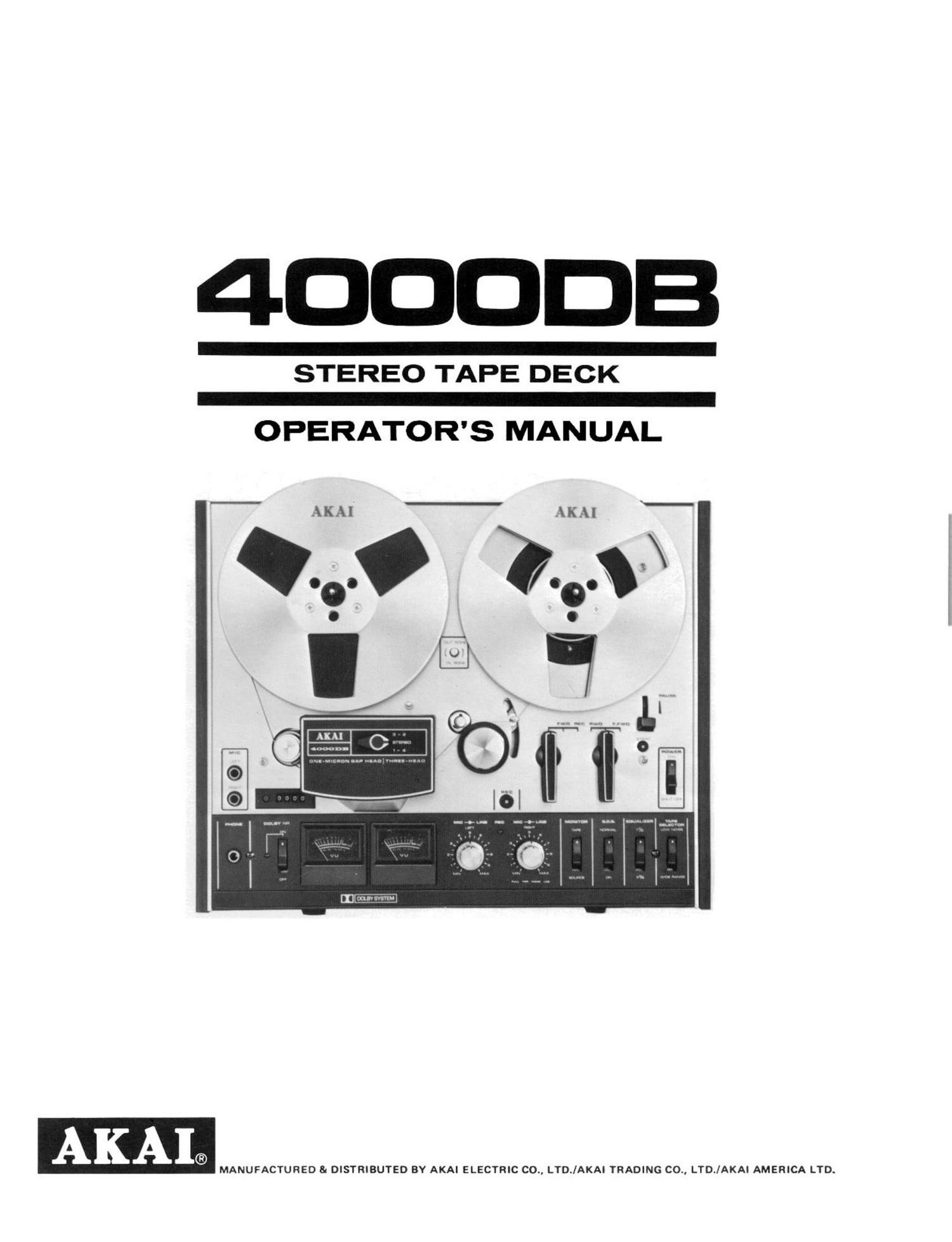 Akai 4000 DB Owners Manual