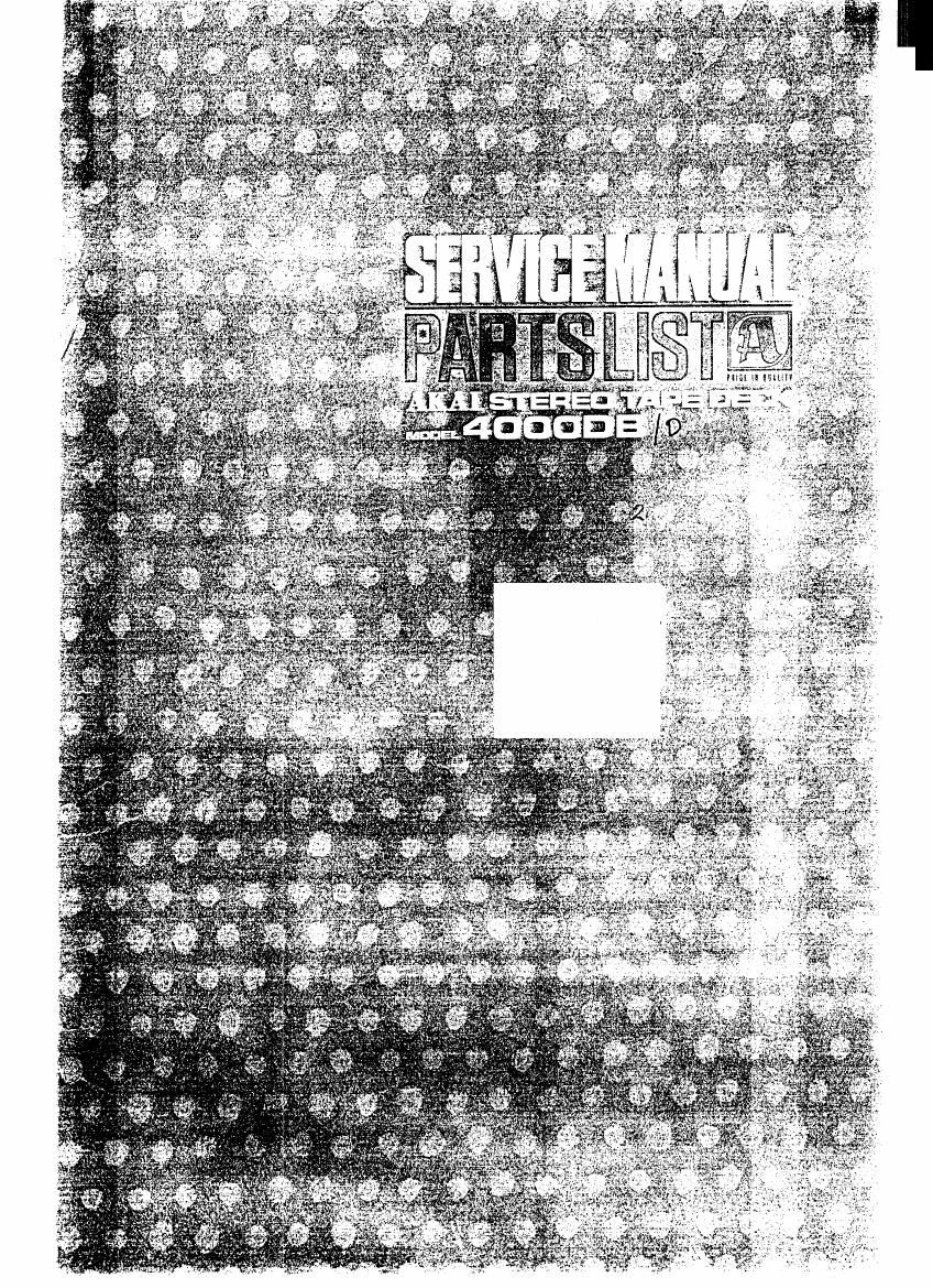 Akai 4000 DB Service Manual