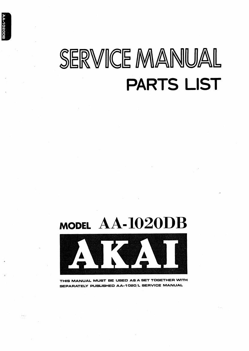 Akai AA 1020 DB Service Manual