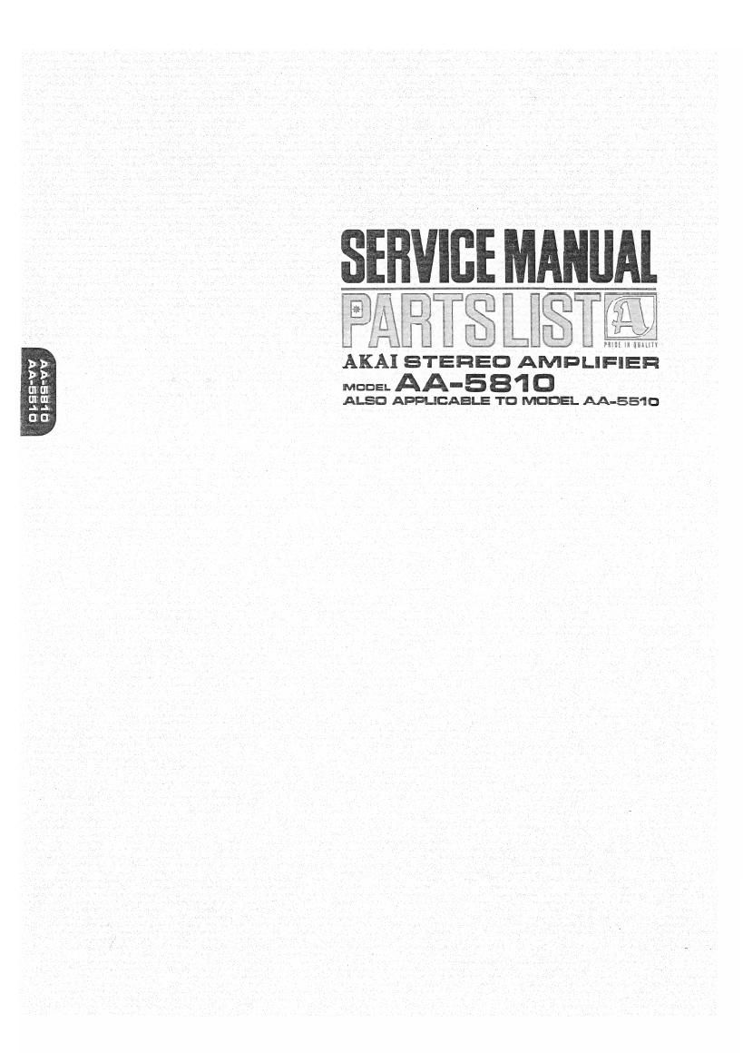 Akai AA 5510 5810 Service Manual