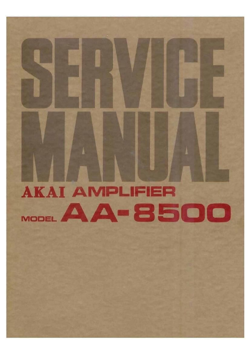 Akai AA 8500 Service Manual