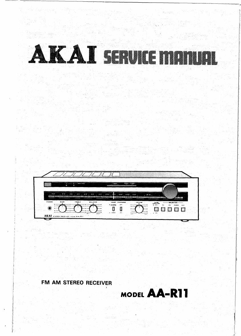 Akai AAR 11 Service Manual