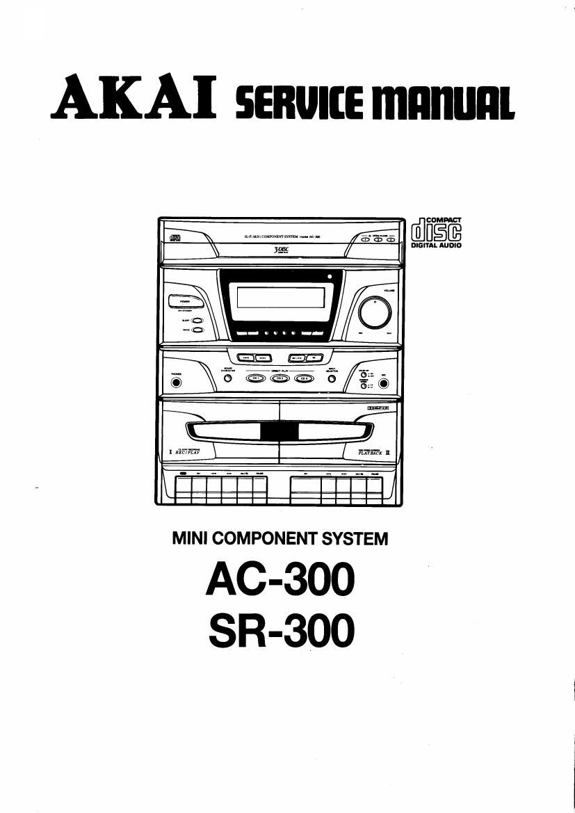 Akai AC 300 Service Manual