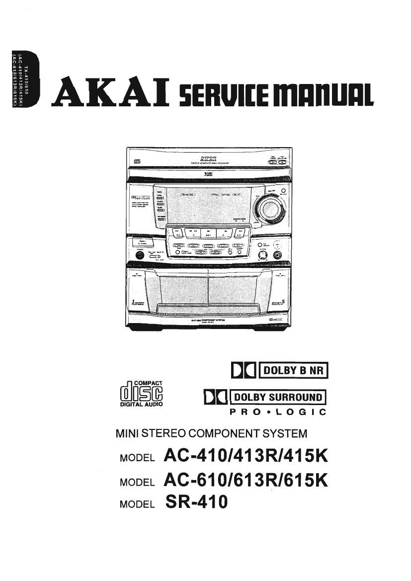 Akai AC 413 R Service Manual