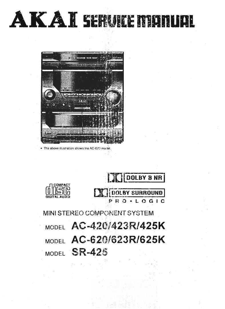 Akai AC 623 R Service Manual
