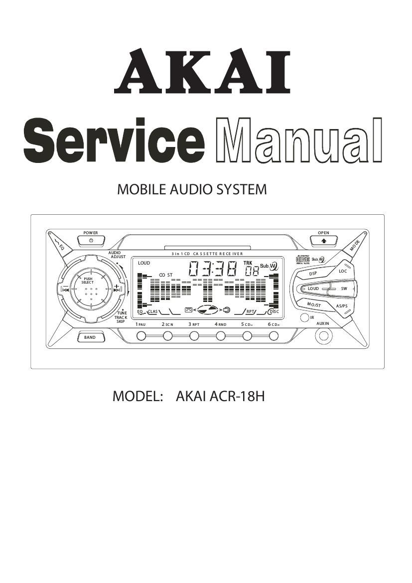 Akai ACR 18 H Service Manual