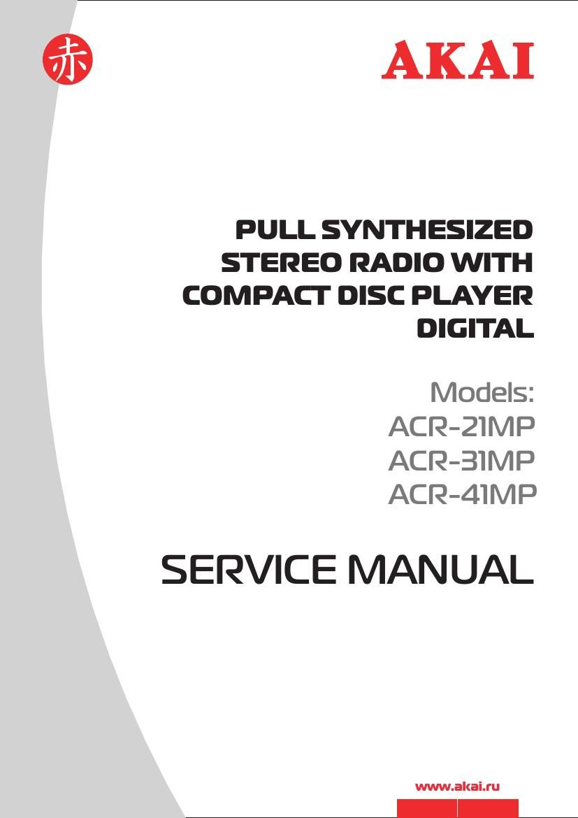 Akai ACR 21 MP Service Manual
