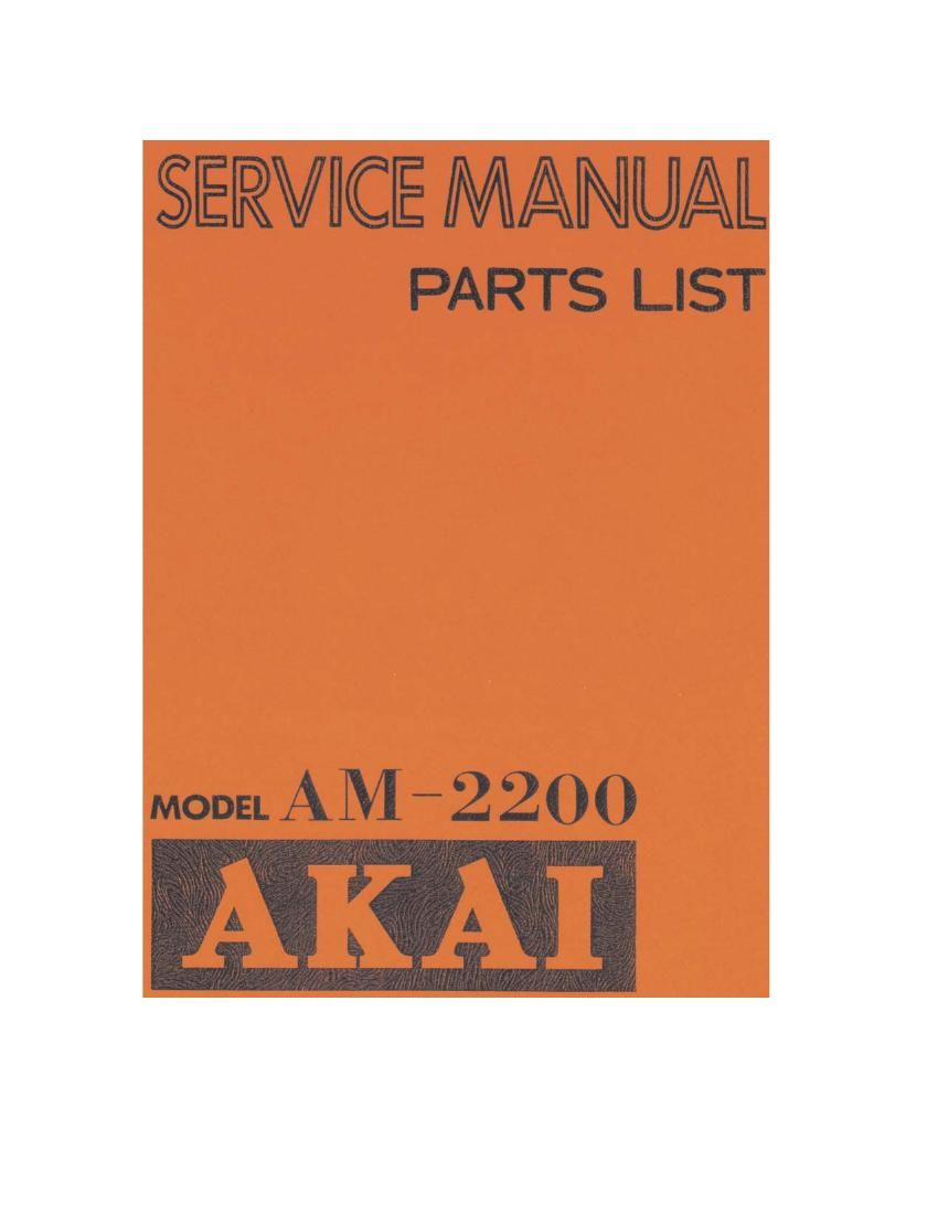 Akai AM 2200 Service Manual