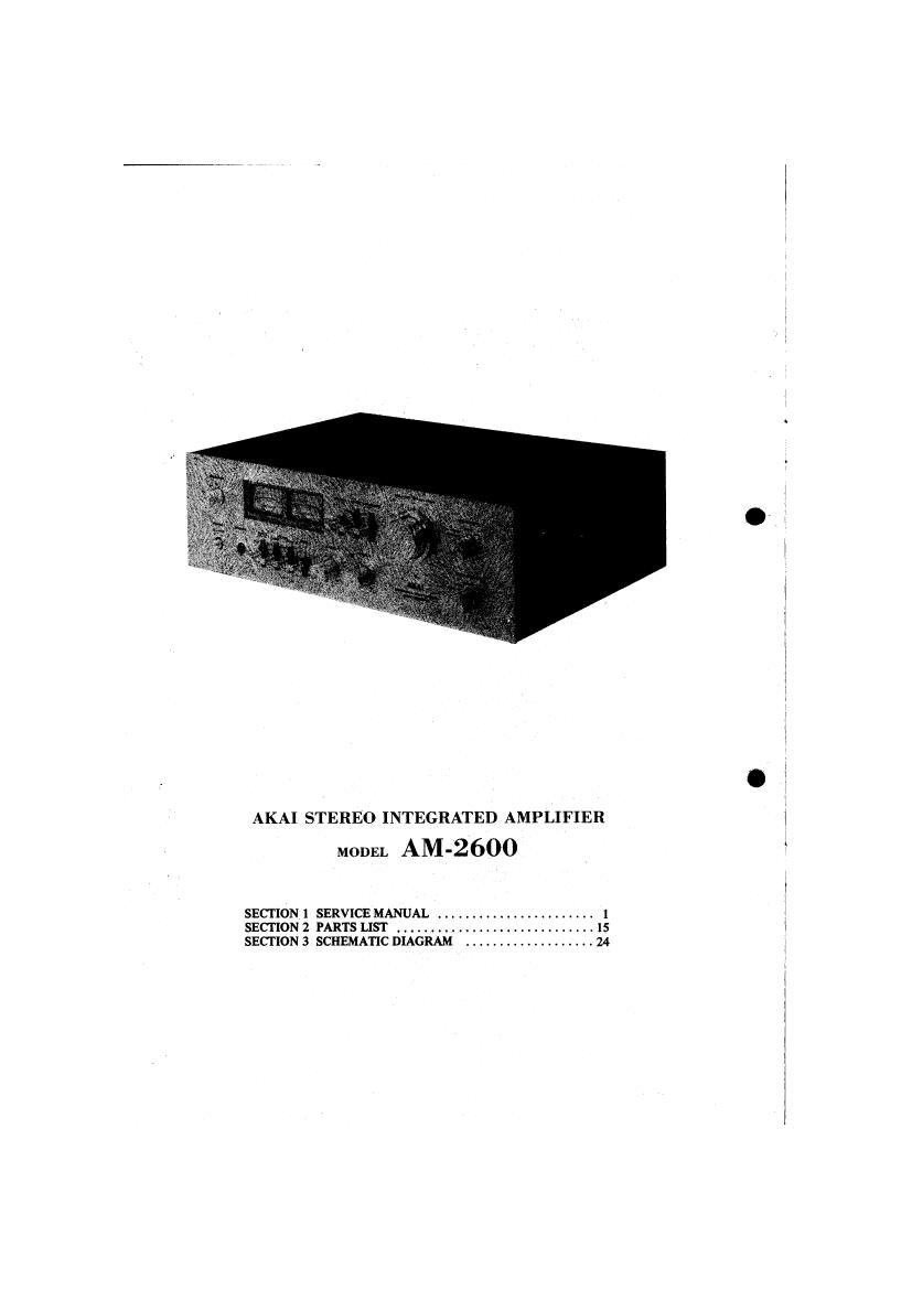 Akai AM 2600 Service Manual