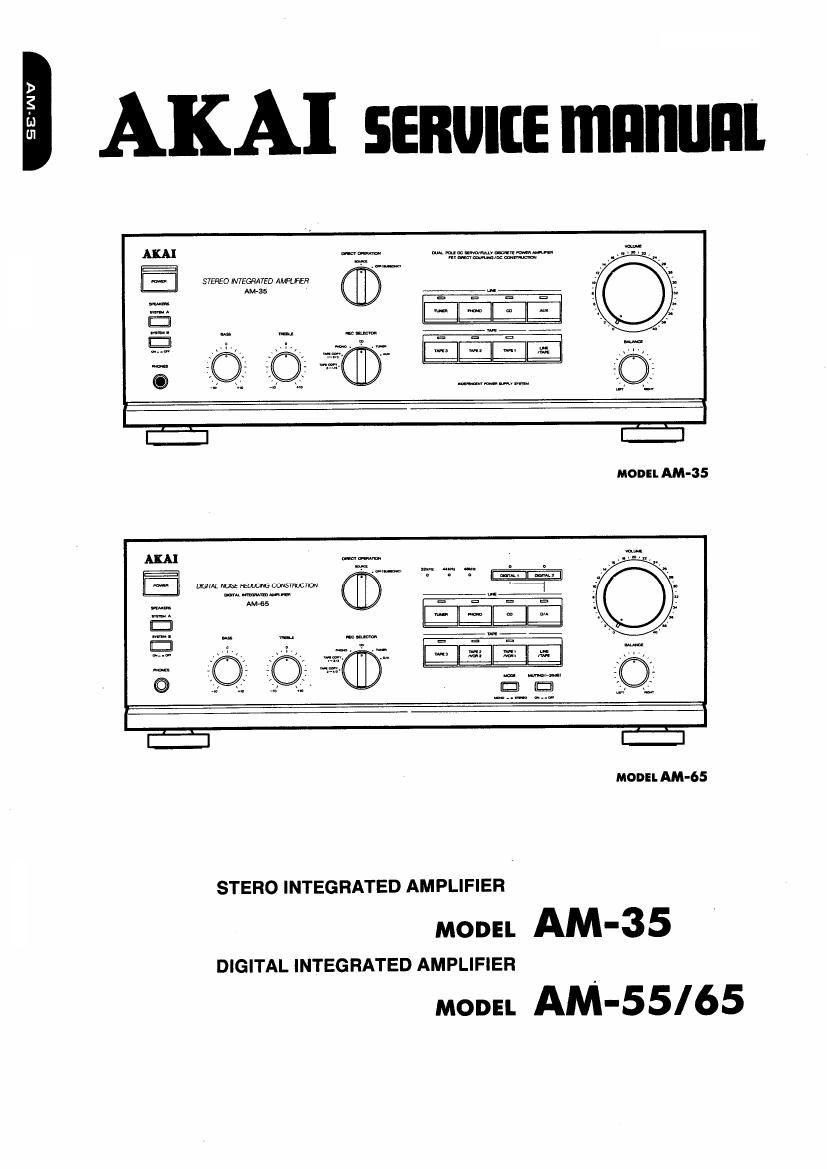 Akai AM 65 Service Manual