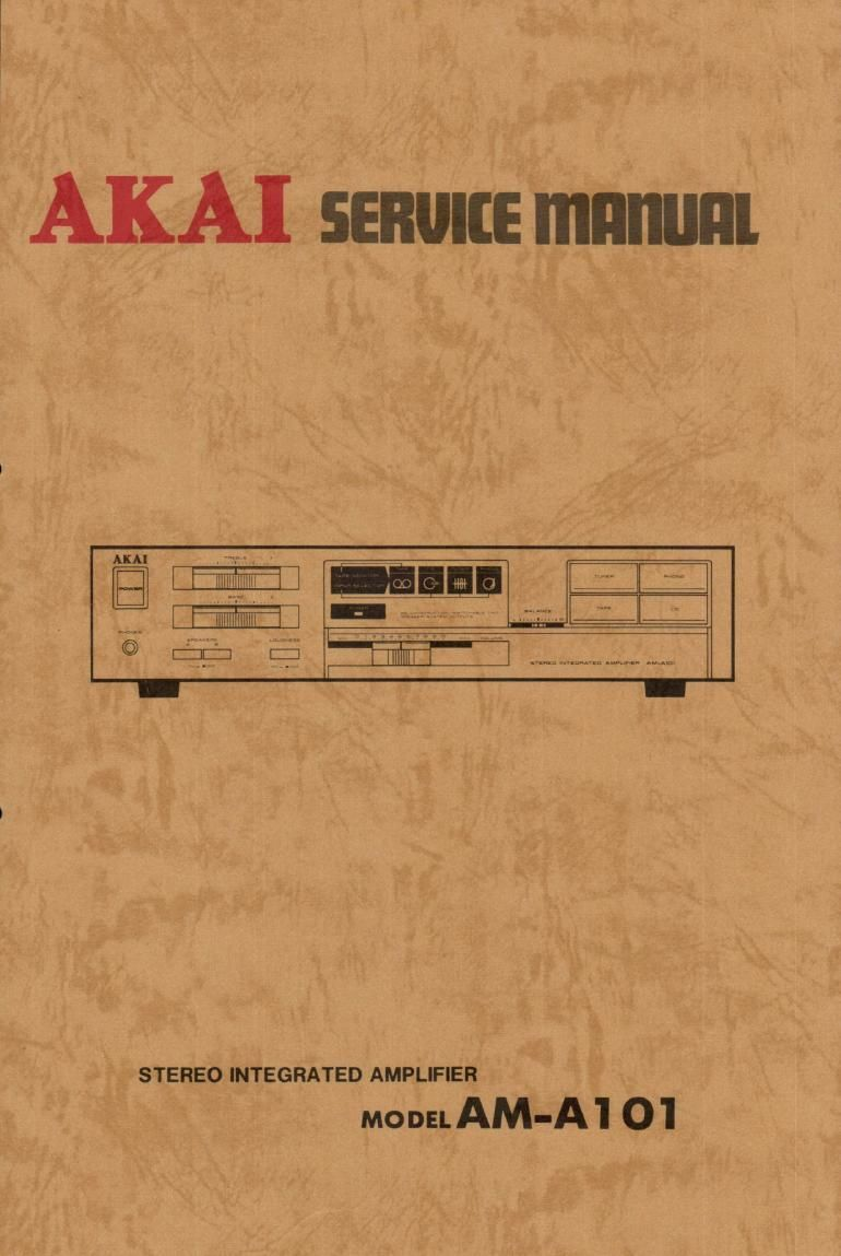 Akai AM A101 Service Manual