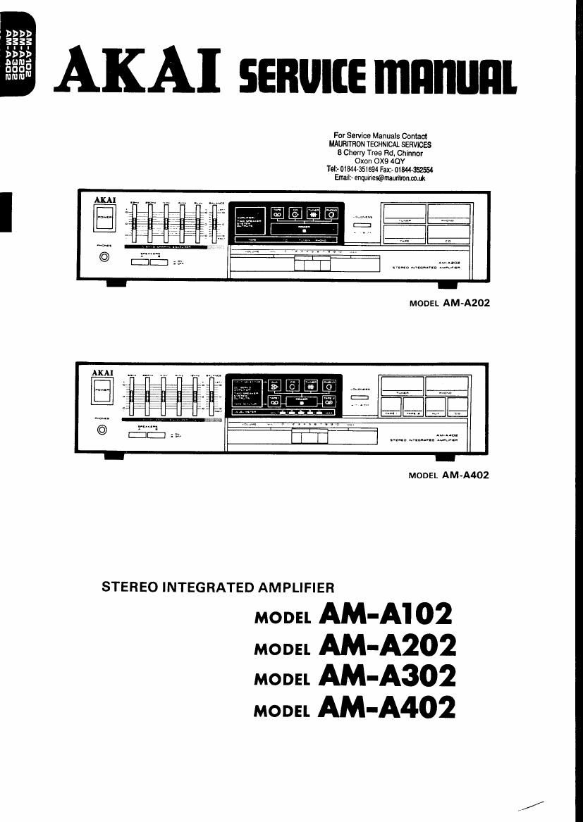 Akai AM A302 Service Manual