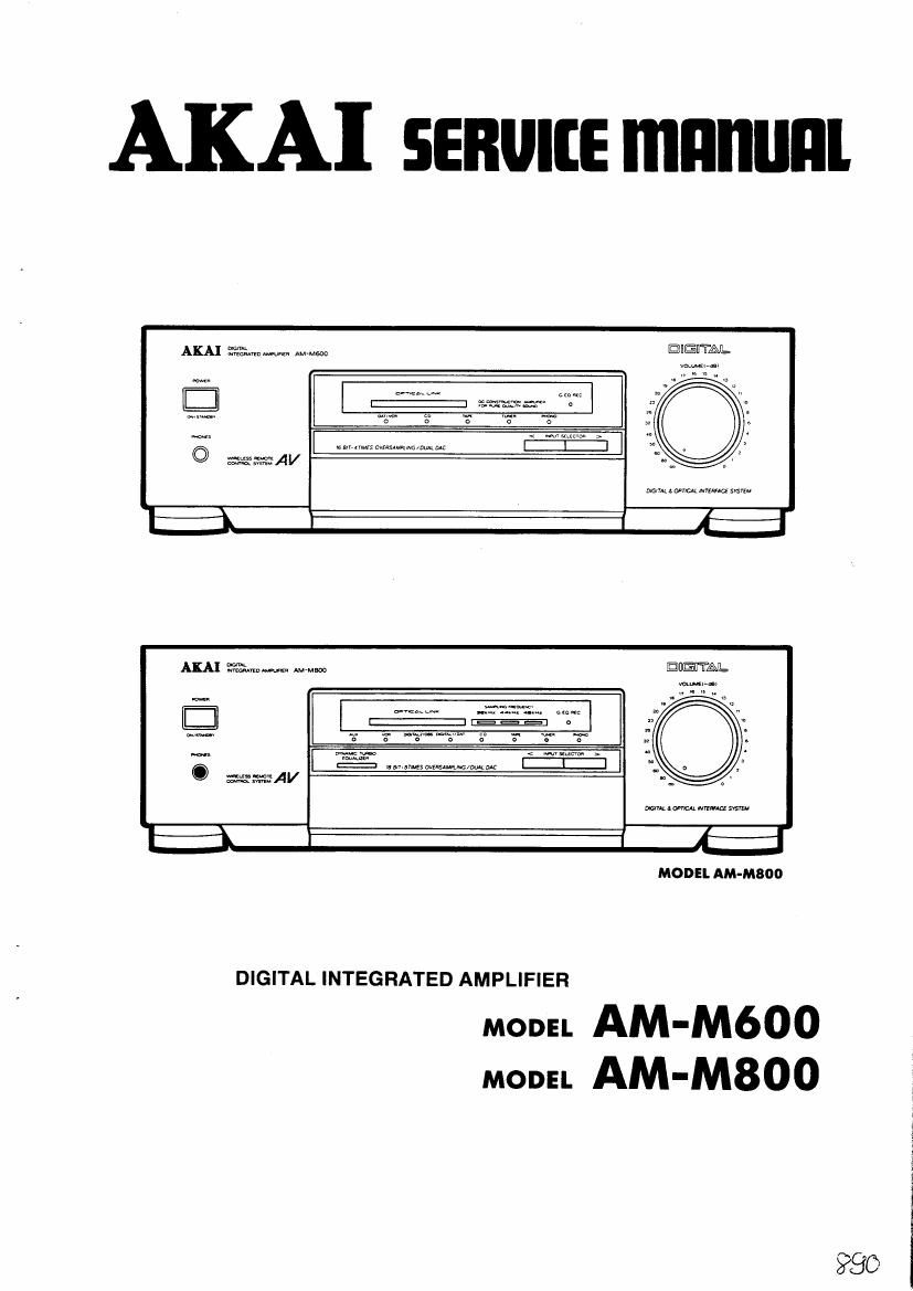 Akai AM M800 Service Manual