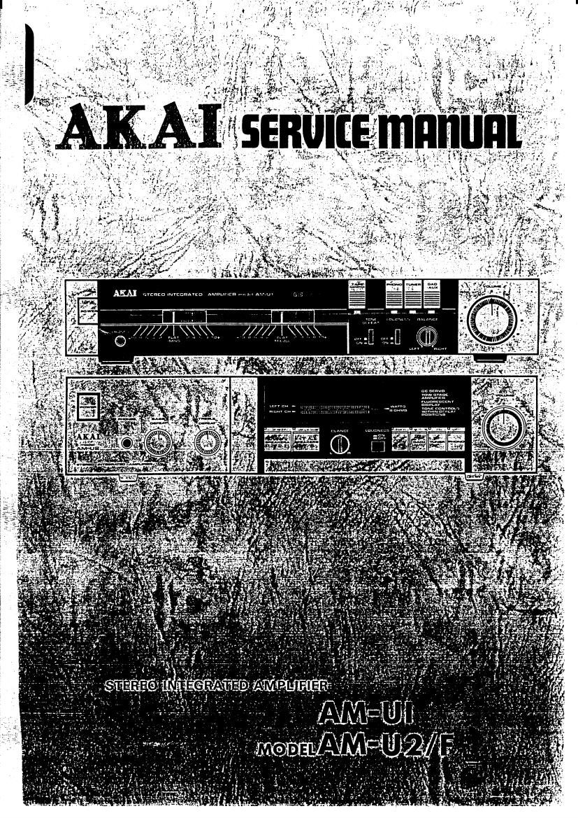 Akai AM U2 F Service Manual