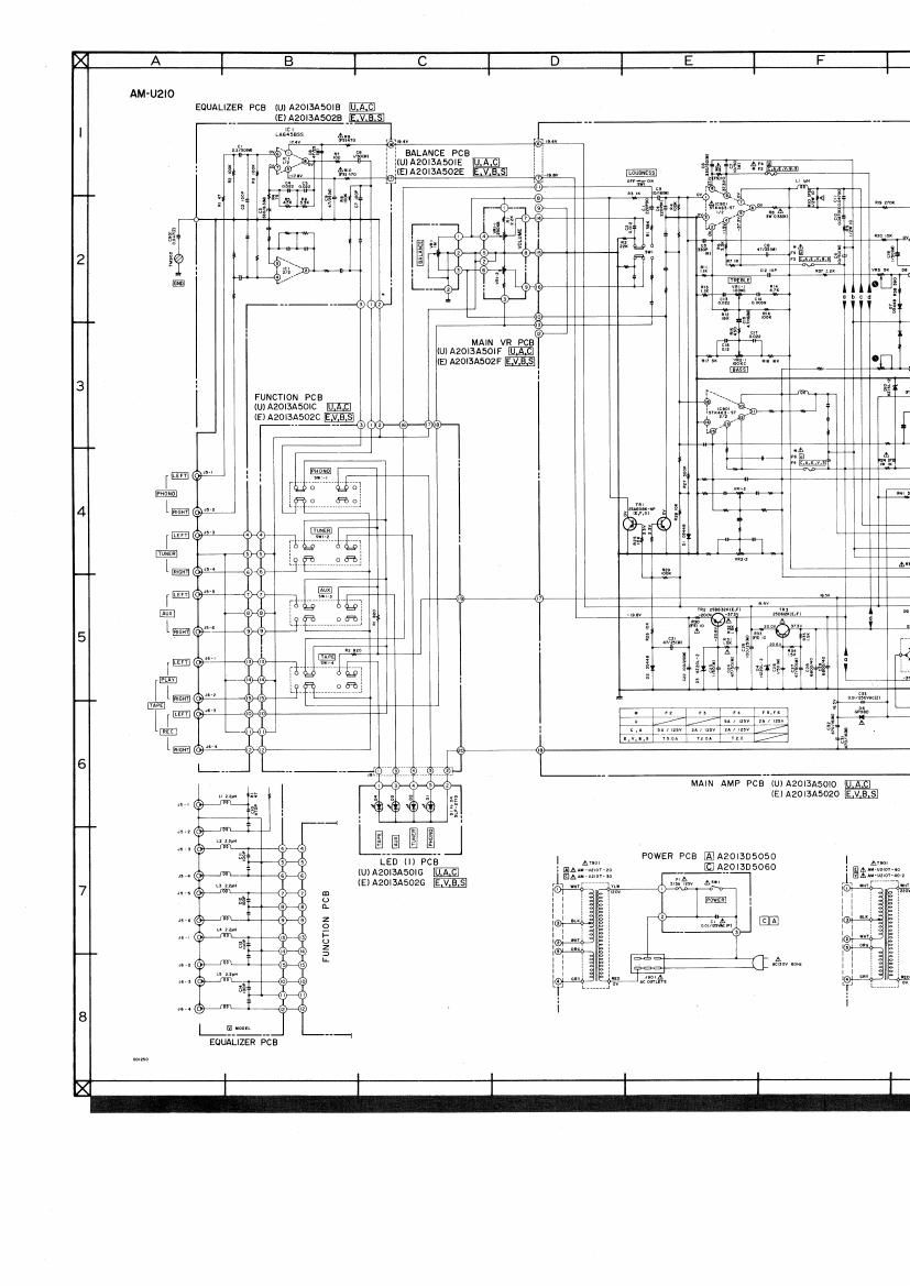Akai AM U210 Schematic