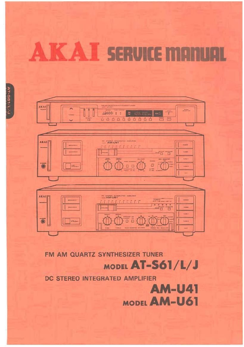 Akai AM U41 U61 Service Manual