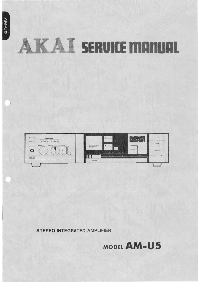 Akai AM U5 Service Manual