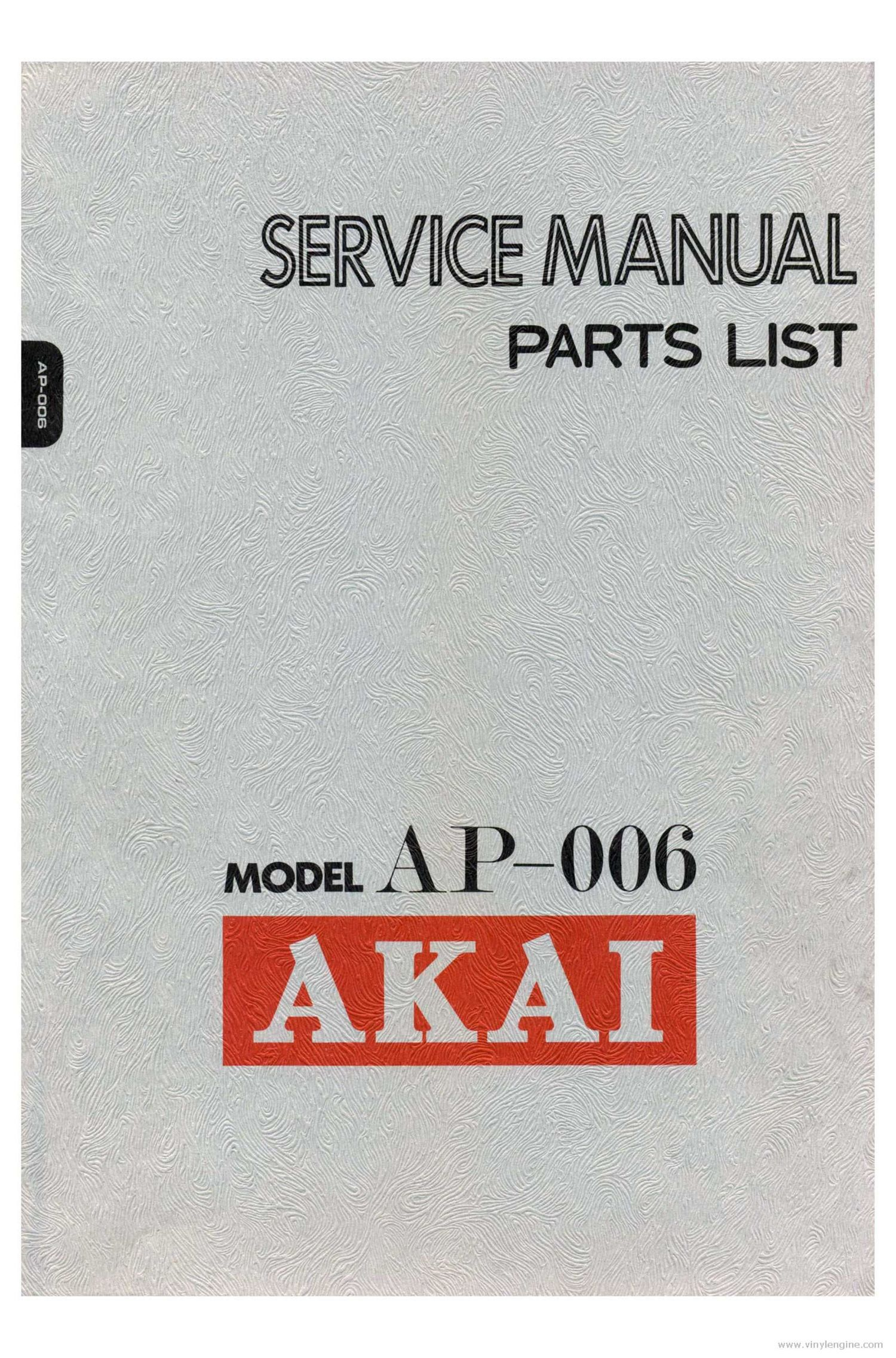 Akai AP 006 Service Manual