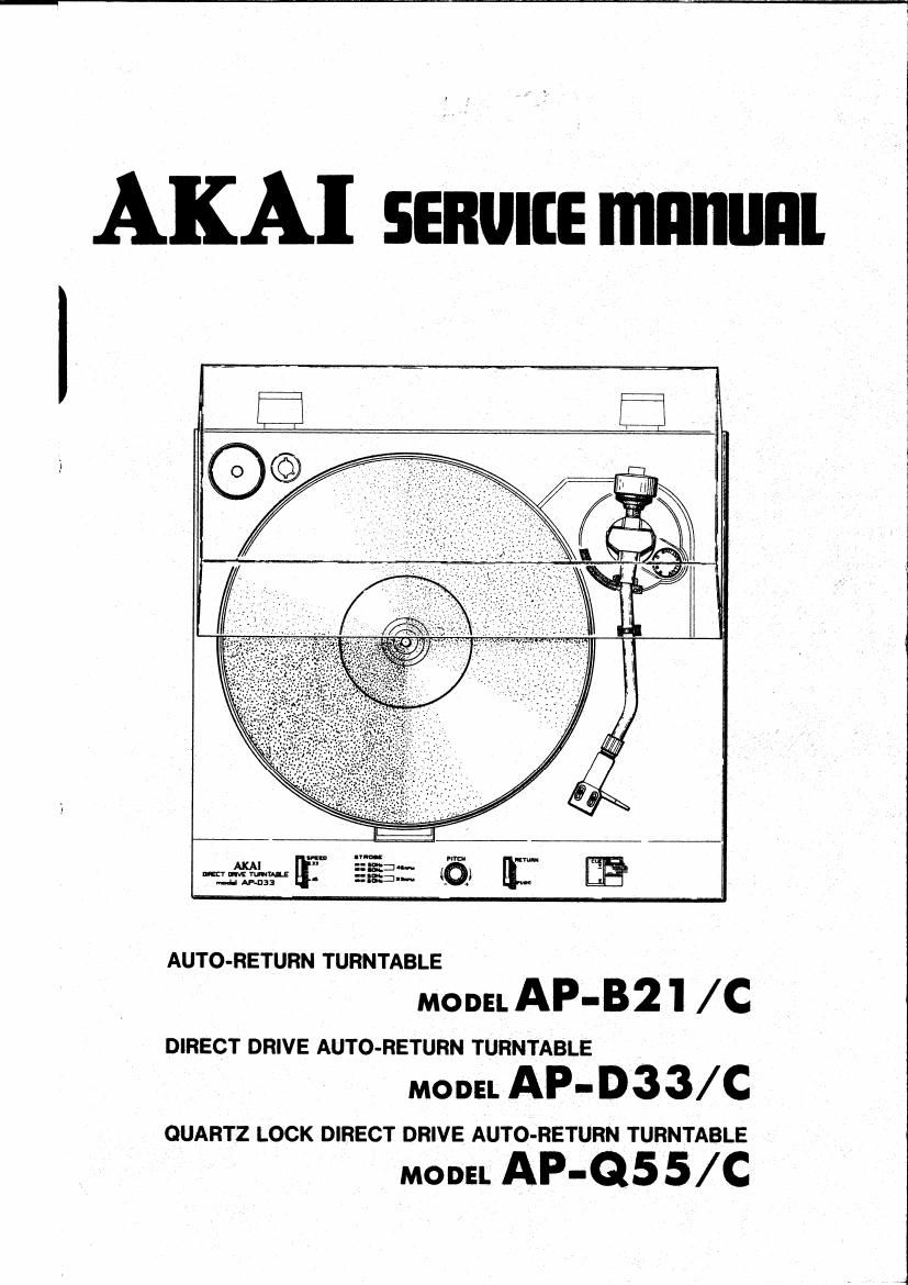 Akai AP B21 C Service Manual
