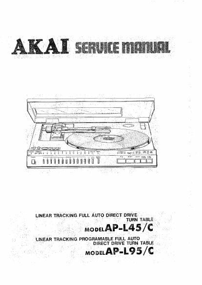 Akai AP L45 C Service Manual