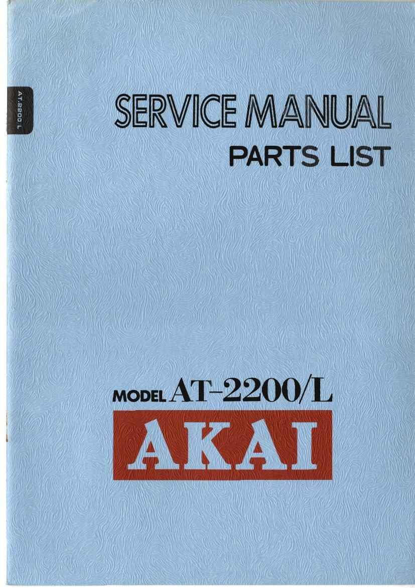 Akai AT 2200 2200 L Service Manual