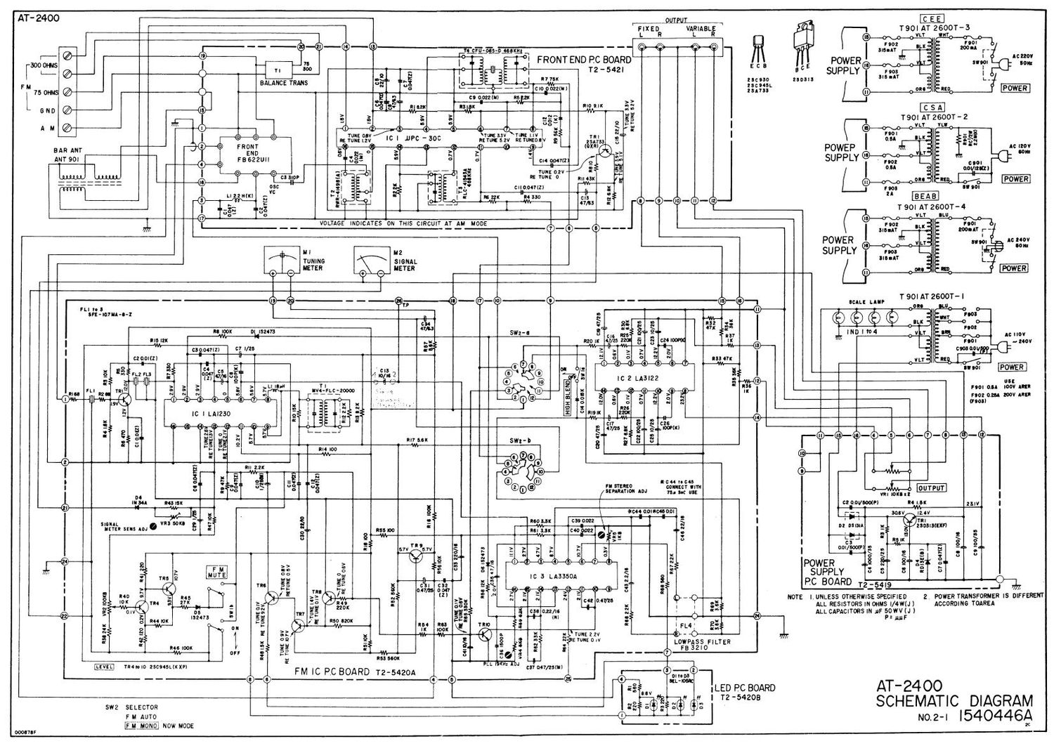 Akai AT 2400 Schematic