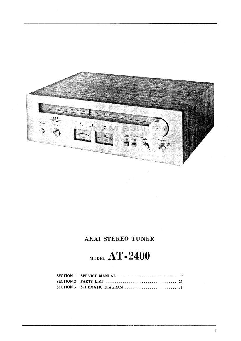 Akai AT 2400 Service Manual