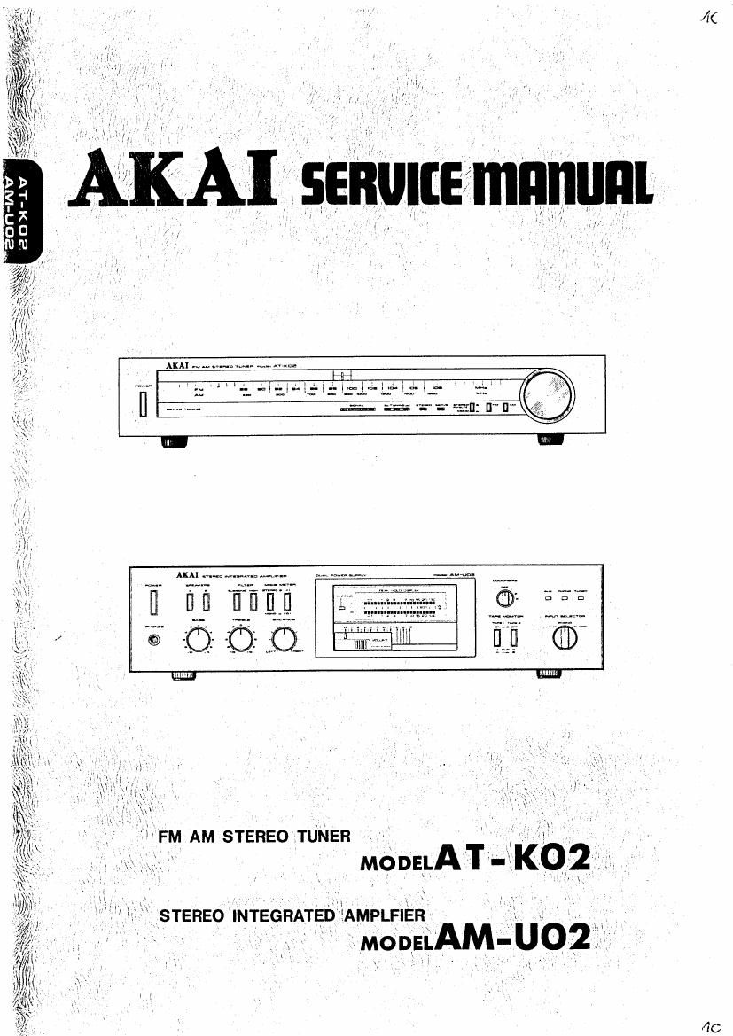 Akai AT K02 Service Manual