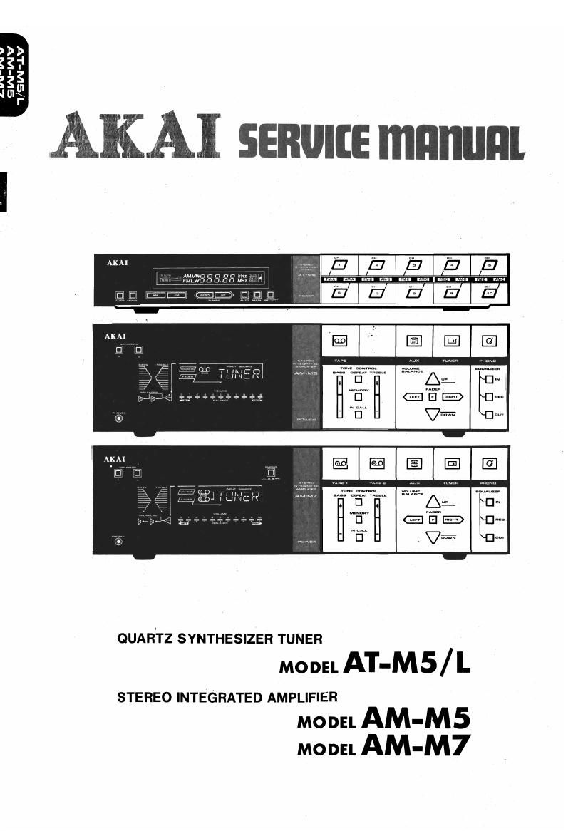 Akai AT M5 AT M5 L Service Manual