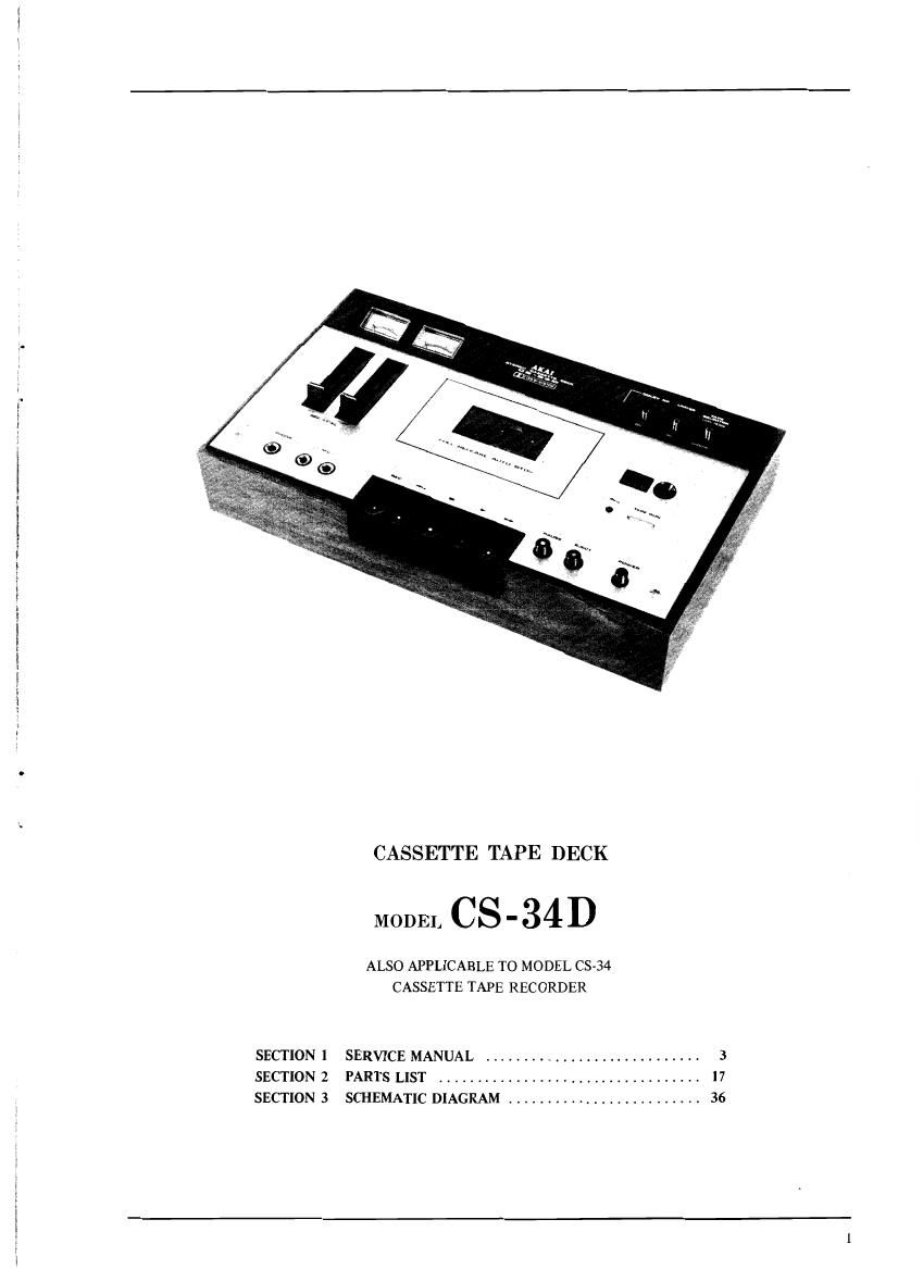 Akai CS 34 Service Manual