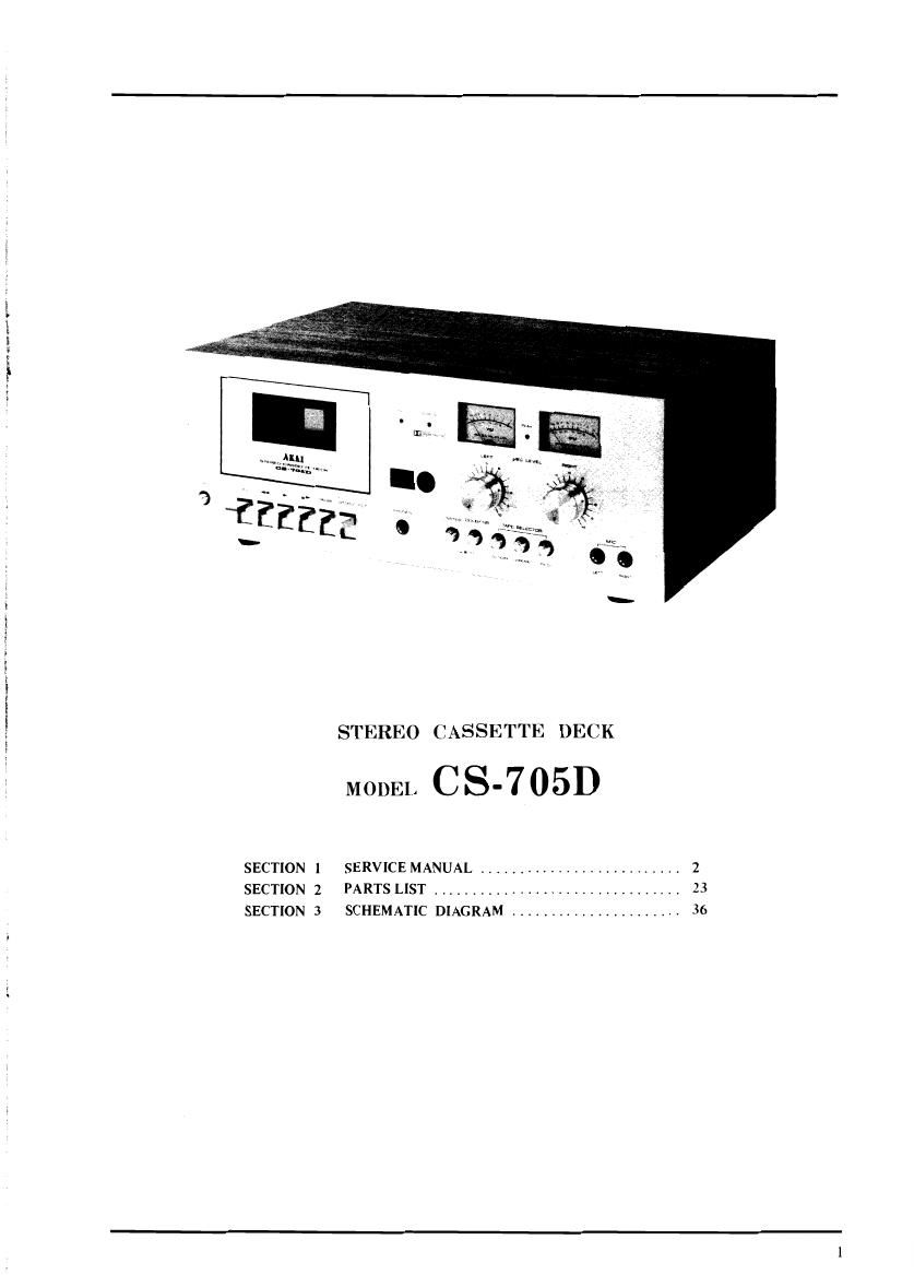 Akai CS 705 D Service Manual