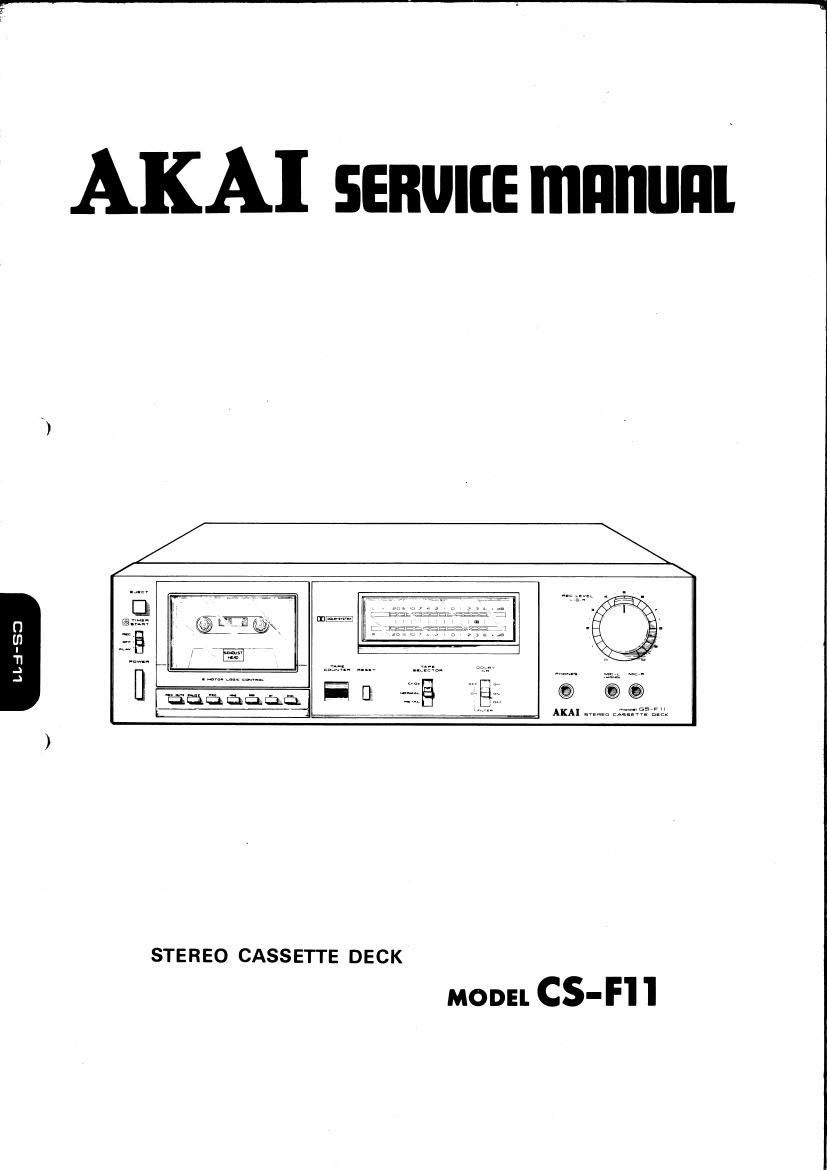 Akai CSF 11 Service Manual