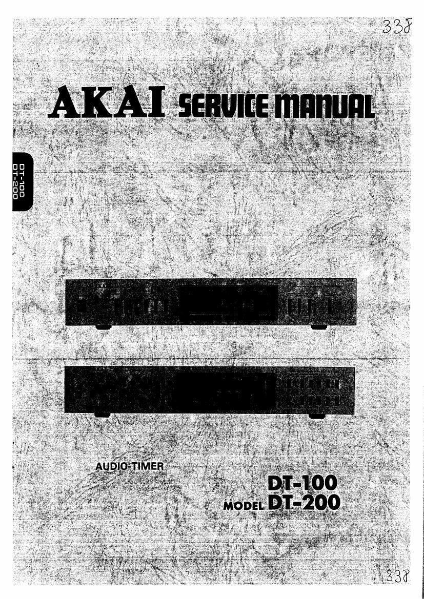 Download Akai Dt 100 Dt 200 Service Manual