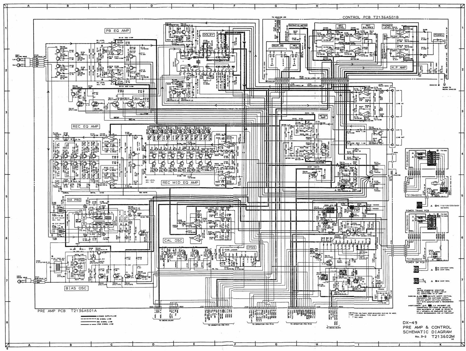 Akai DX 49 Schematic
