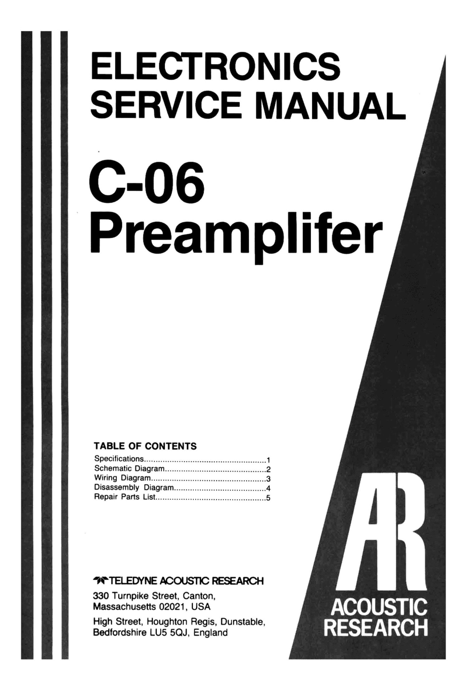 acoustic research c 06 service manual