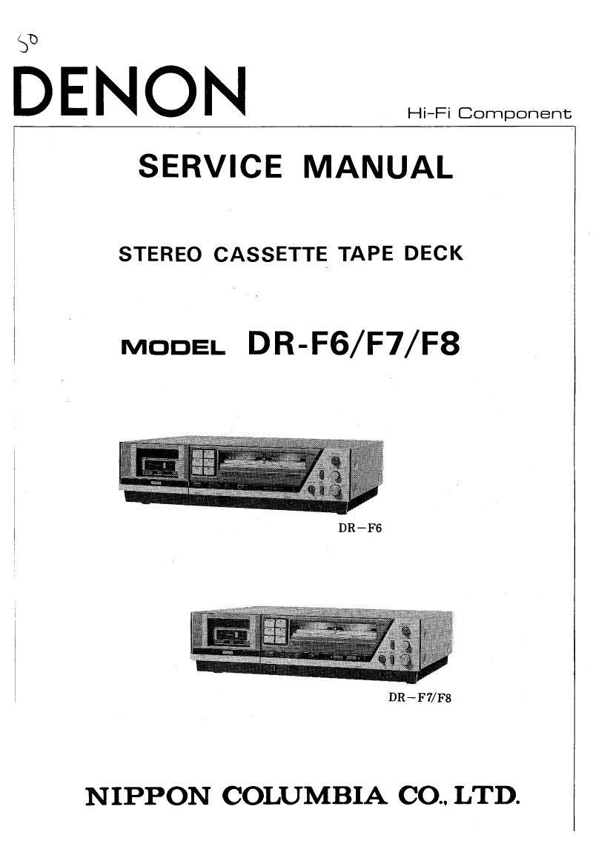 Download Denon Dr F6 Service Manual