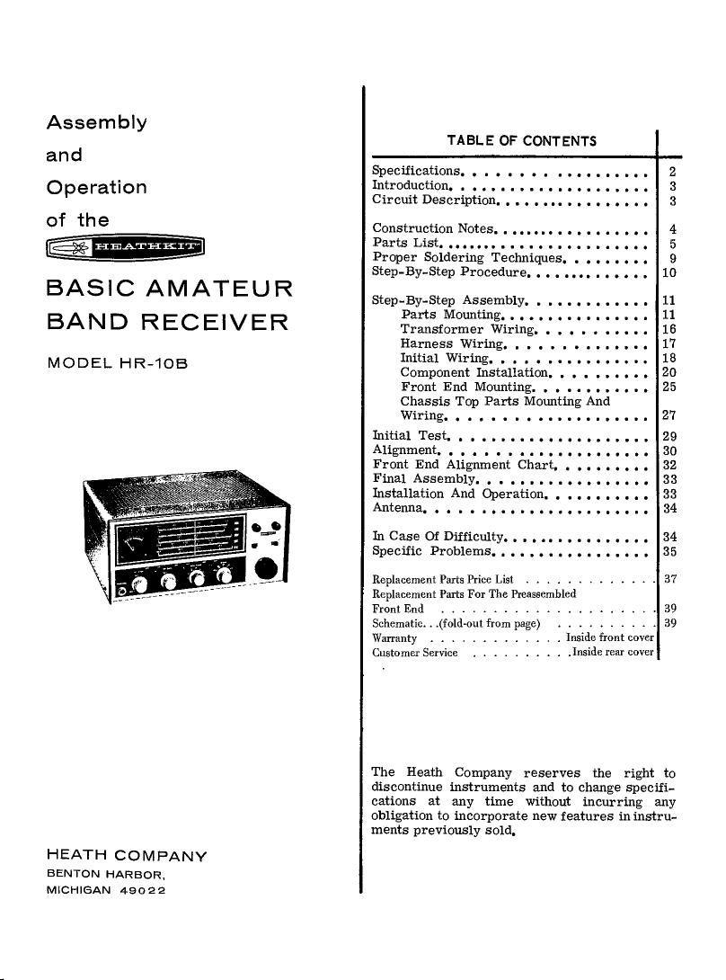 Heathkit Hr 10b Manual Wiring Harness