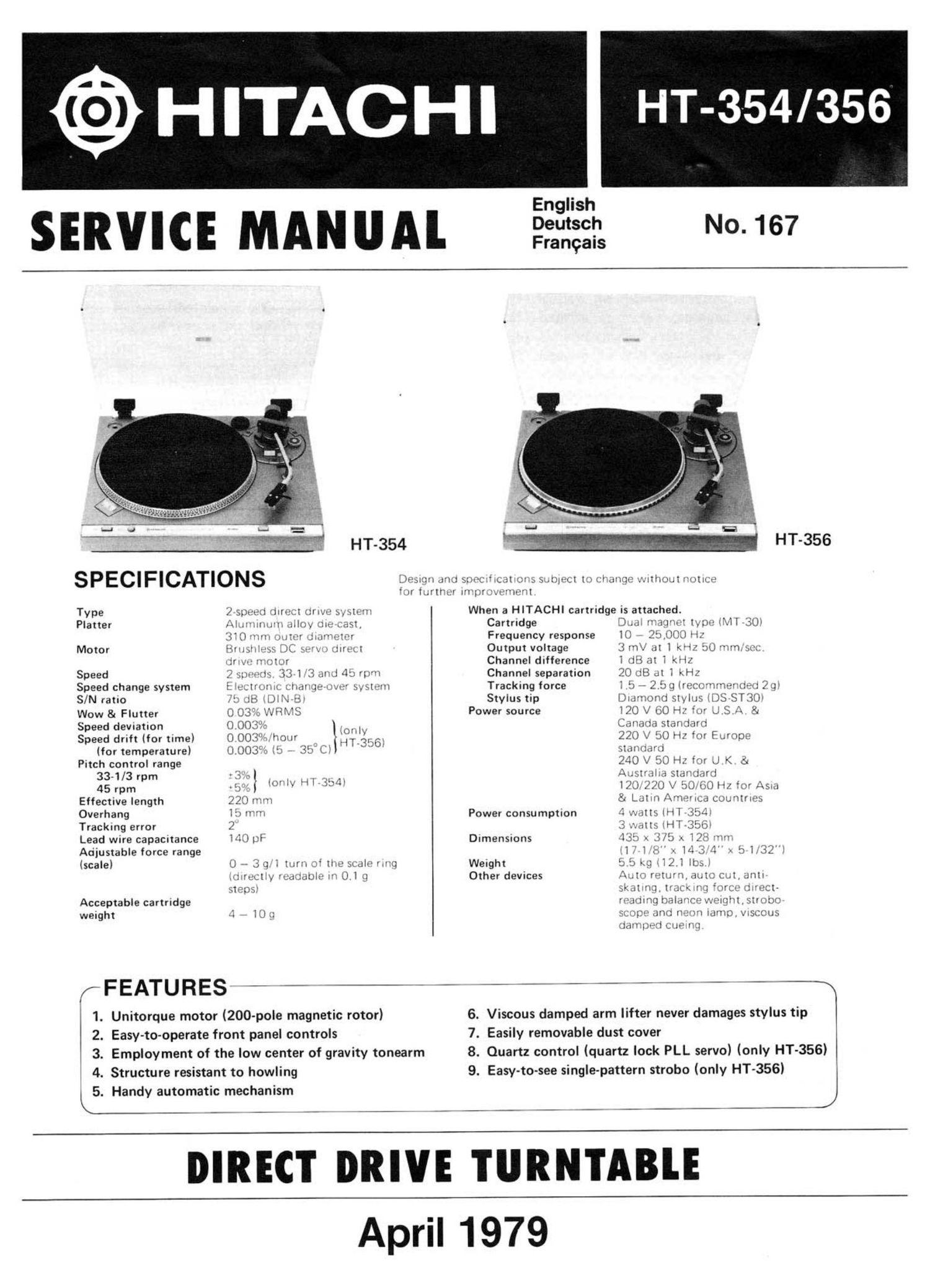 Download Hitachi Ht 354 Service Manual