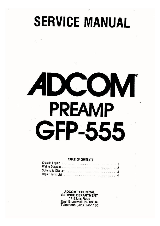 adcom gfp 555 service manual rh audioservicemanuals com adcom 535 service manual adcom service manual adcom preamp gfp-565