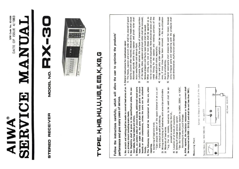 aiwa rx 30 service manual rh audioservicemanuals com Aiwa Subwoofer Aiwa Exos-9