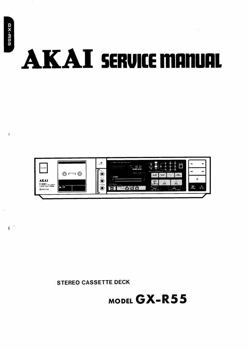akai gxr 55 service manual rh audioservicemanuals com Honeywell Thermostat Installation Manual Generac 20 kW Installation Manual