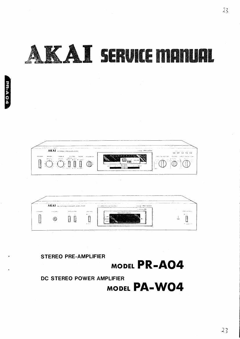 akai paw 04 service manual rh audioservicemanuals com service manual stihl 044 service manual 04 harley road king
