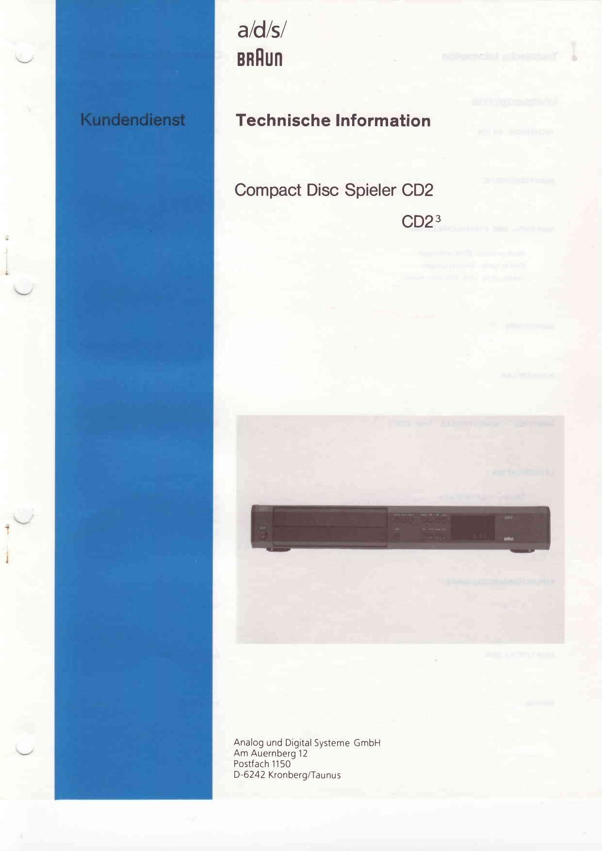braun cd 2 service manual rh audioservicemanuals com braun 5491 service manual braun 4191 service manual
