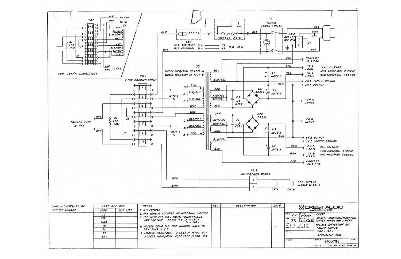 crest audio 3000 schematic rh audioservicemanuals com IC Schematic Diagram Schematic Diagram of Beats Pro